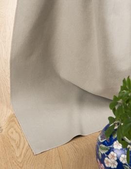Rideau sur-mesure à partir du tissu BALI, uni coton, galet
