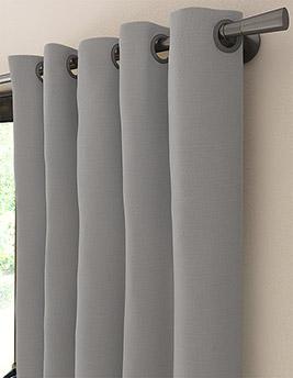 Rideau sur-mesure à partir du tissu MANILA, coton, gris