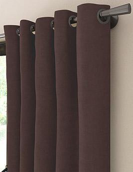 Rideau sur-mesure à partir du tissu FLORIDA, velours, marron