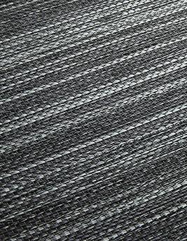 Sol vinyle METALLIC LOOK, aspect fibre tissée, noir, rouleau 2 m
