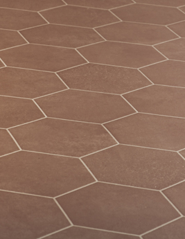 Sol vinyle MOONLIGHT, effet tomette brique, rouleau 4 m