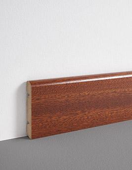 Plinthe, placage bois, décor merbau, h.8 x L.220 cm