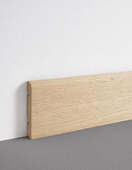 Plinthe, placage bois, décor chêne brut, h.8 x L.220 cm