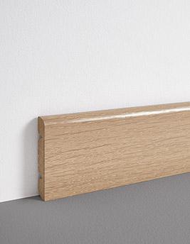 Plinthe, placage bois, décor chêne blanc, h.8 x L.220 cm