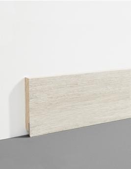 Plinthe Hydro, MDF, décor chêne greige, h.7,8 x L.200 cm