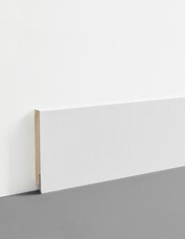 Plinthe Hydro, MDF, décor blanc, h.7,8 x L.200 cm