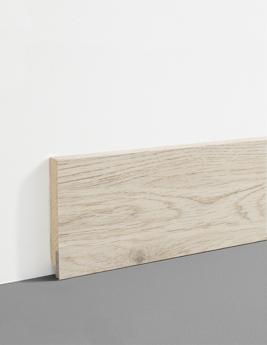 Plinthe hydro, MDF, décor chêne bois beige naturel, h.7,8 x L.200 cm