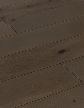 Parquet contrecollé ANTIGO 190, authentique, chêne marron foncé, huilé, larg 19 cm