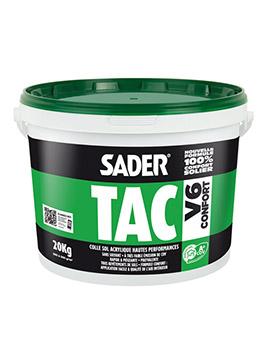 Colle acrylique, Sader tac V6, pour moquette et PVC vinyle, 6 kg