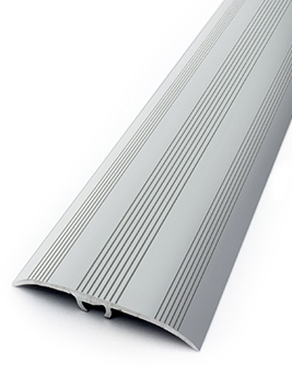 Barre de seuil HARMONY 41, décor aluminium strié naturel, l.4,1 x L.270 cm