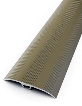 Barre de seuil HARMONY 41, décor strié aluminium titium, l.4,1 x L.93 cm