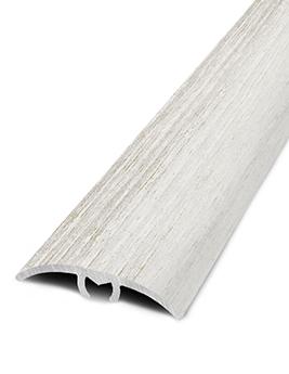 Barre de seuil HARMONY 30, décor aluminium chataignier, l.3.0 x L.93 cm
