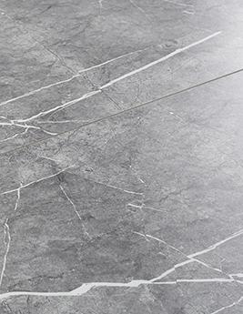 Sol stratifié VISIOGRANDE, aspect marbre gris, lame 28,2 x 128,6 cm