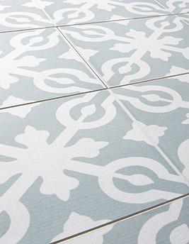 Sol stratifié STYLE PARISIENNE, carreau de ciment, lame 16 x 128.6 cm