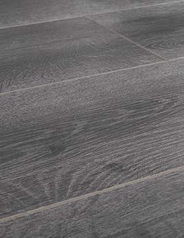 Sol stratifié EASYLIFE LEGEND, aspect chêne gris foncé, lame 19,4 x 128,6 cm