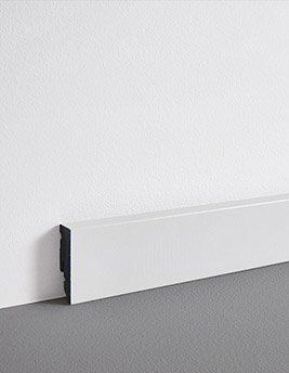 Plinthe, PVC, décor blanc, h.5 x L.240 cm