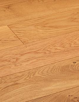 Parquet contrecollé MAJESTE 184, authentique, chêne marron moyen, verni, larg 18,4 cm