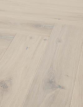 Parquet contrecollé CHAMBORD 130, vintage, chêne blanchi, verni, larg 13 cm