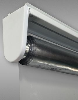 Store enrouleur transparent de protection anti-virus,140x250 cm